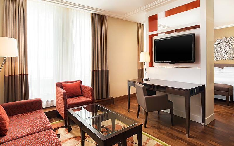 Lounge area of a suite in the Sheraton Bratislava Hotel