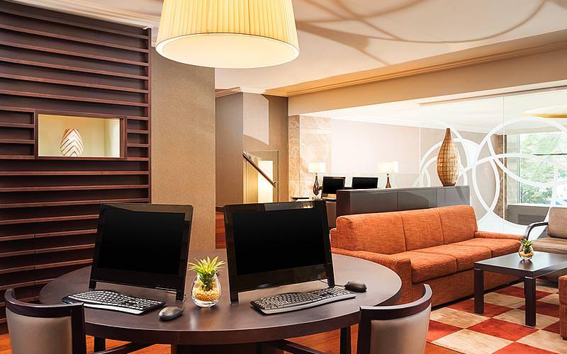 Internet and lobby area of the Sheraton Bratislava Hotel