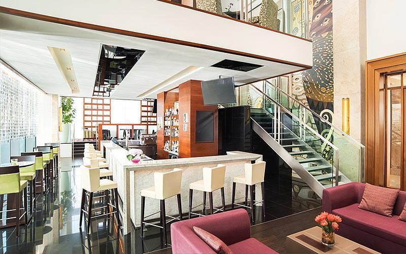 Bar area of the Sheraton Bratislava Hotel