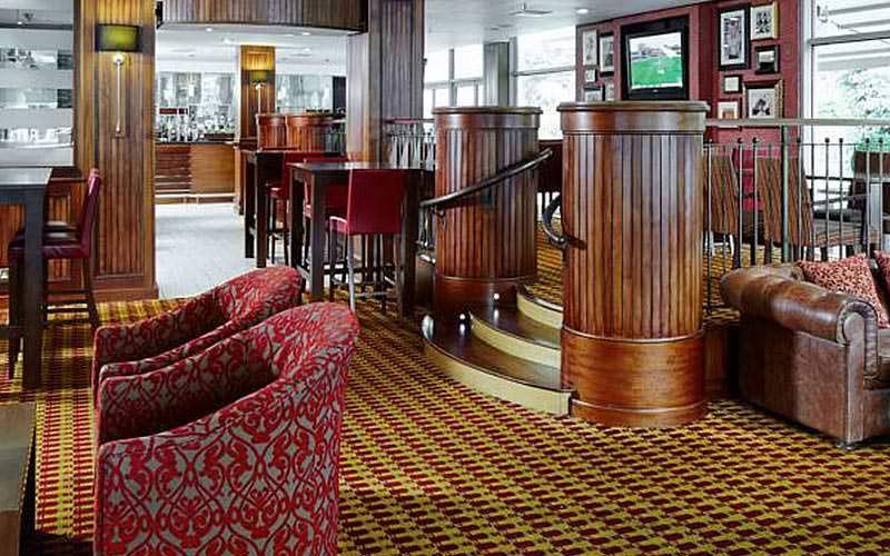 Seating in the lobby at Marriott Hotel, Edinburgh