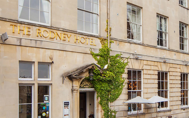 The exterior of the Rodney Hote, Bristol