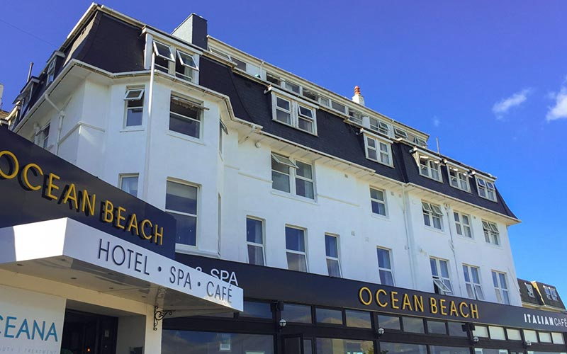 The exterior of Ocean Beach Hotel