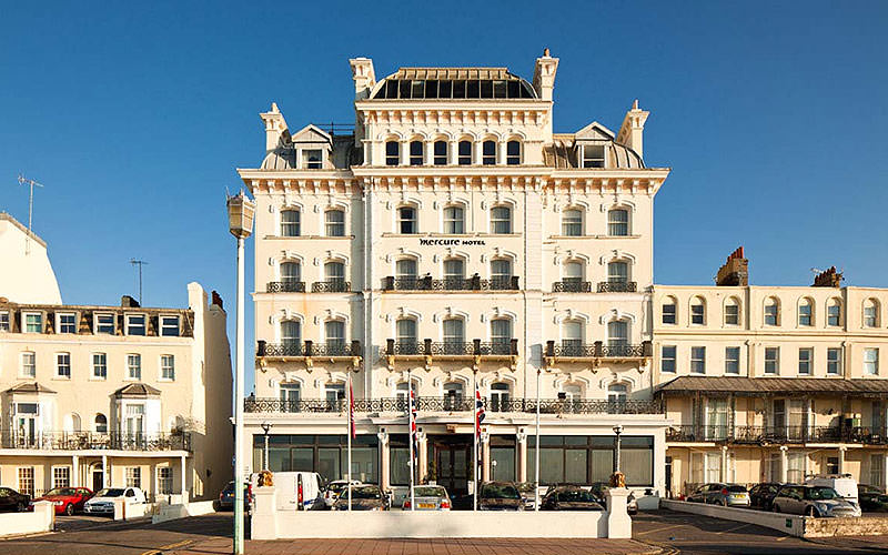 Exterior of the Mercure Seafront, Brighton, during the day