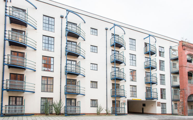 The exterior of the Redcliffe Apartments, Bristol