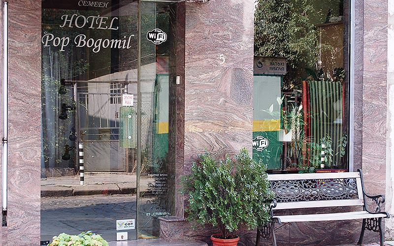 The exterior of the Hotel Pop Bogomil