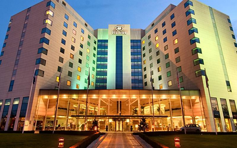 The exterior of the Hilton Sofia