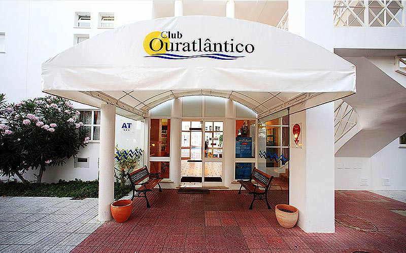 Exterior entrance of Ouratlantico during the day