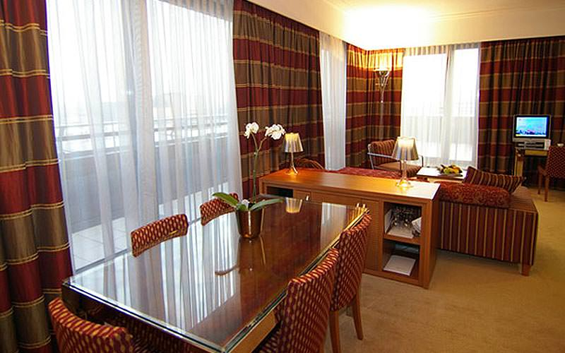 Example of a guest suite at Hotel International Zagreb