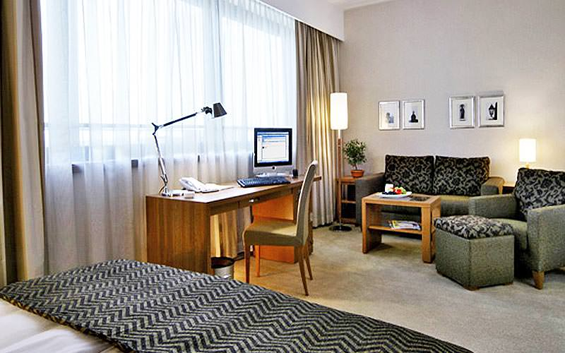 Example of a guest room at Hotel International Zagreb