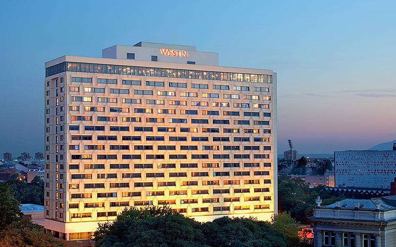 Exterior of the Hotel Westin