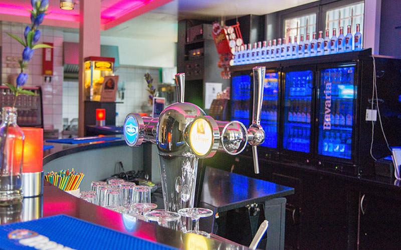 The bar area of Stayokay Vondelpark