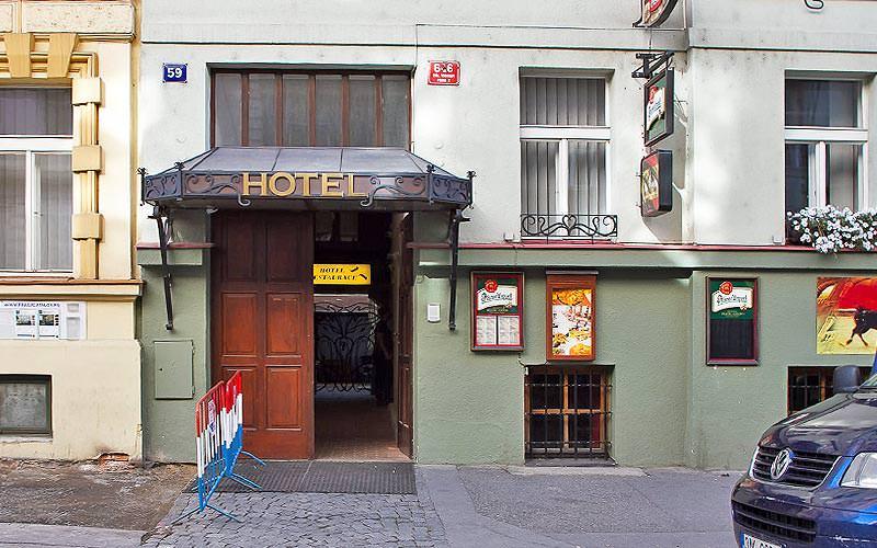 The exterior of the Lublanka Aparthotel, Prague