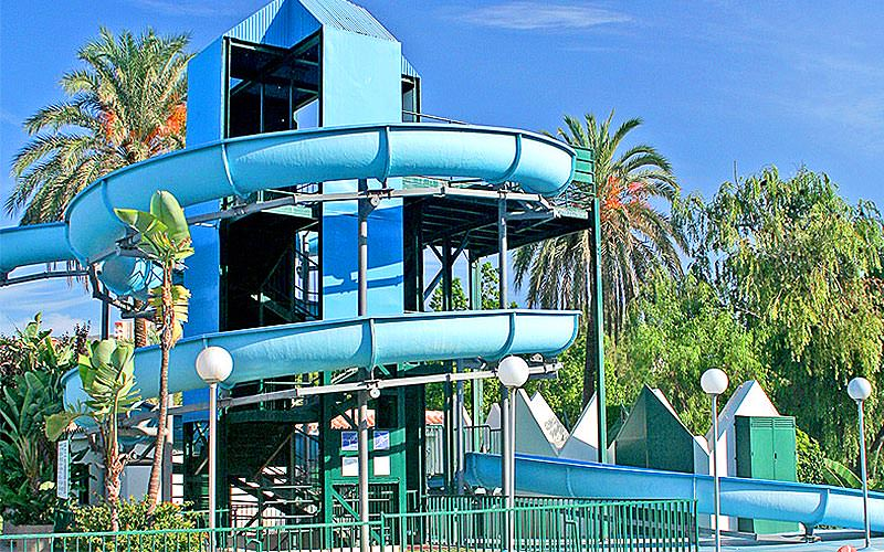 A spiralling flume slide at CLC Benal Beach