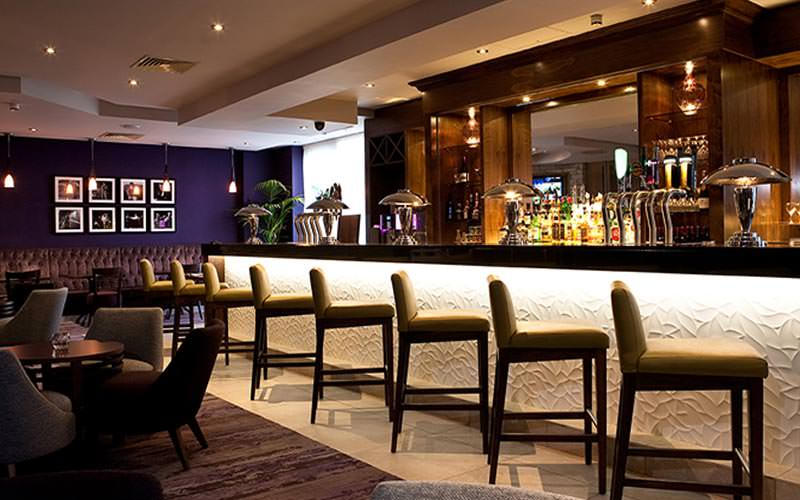 The long bar at the Jurys Inn Parnell Street