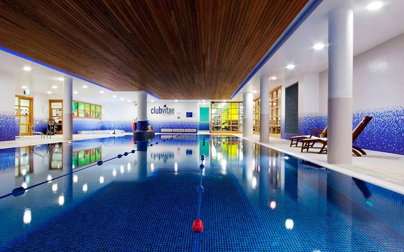 The indoor swimming pool at the Clayton Hotel Cardiff Lane