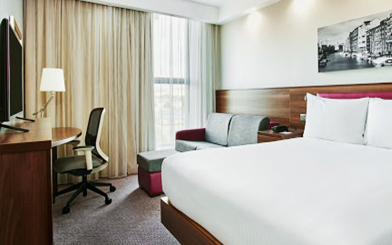 A double room in Hampton by Hilton