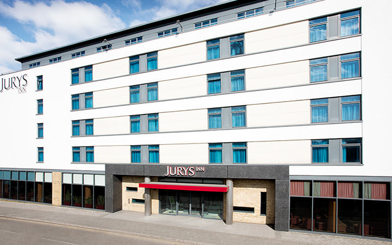 The exterior of the Jurys Inn, Brighton