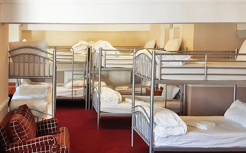 Metal framed bunk beds in New Madeira Hotel