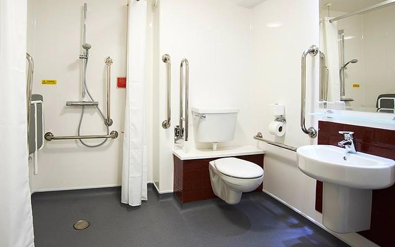 White, disabled bathroom