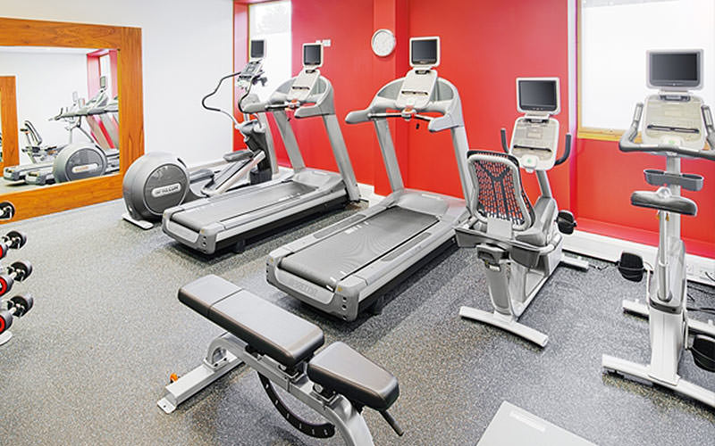 The gym in Hilton Garden Inn