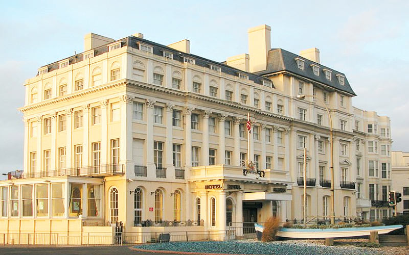The grand building of The Royal Albion Hotel