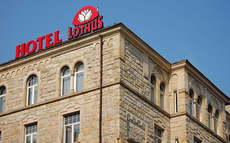 The exterior of the Hotel Lothus