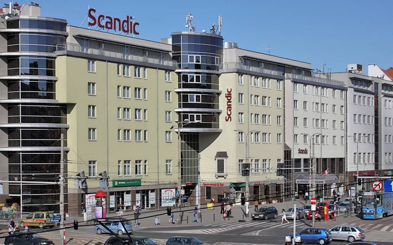The exterior Scandic Wroclaw