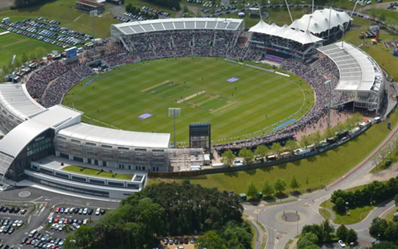 Bird's eye view of the Ageas Bowl Stadium