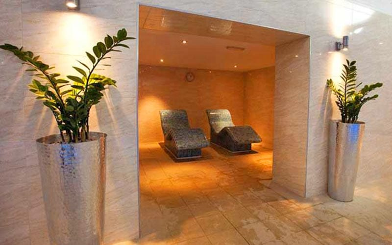 Two relaxing stone chairs in Telford Hotel and Golf Resort's spa