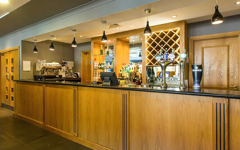 The bar area in The Hampshire Court Hotel