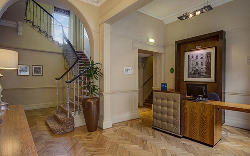 The reception area of Edinburgh