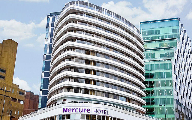 The exterior of the Mercure Liverpool Atlantic Tower Hotel