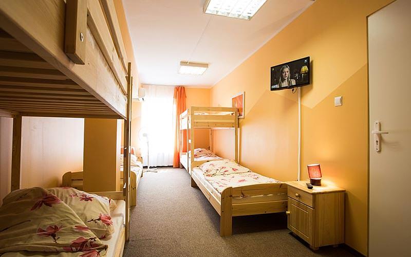 A dorm room at Moon Hostel