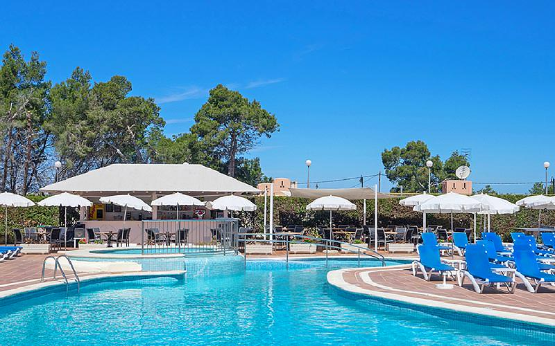 The outdoor swimming pool at THB Ibiza Mar Apartments