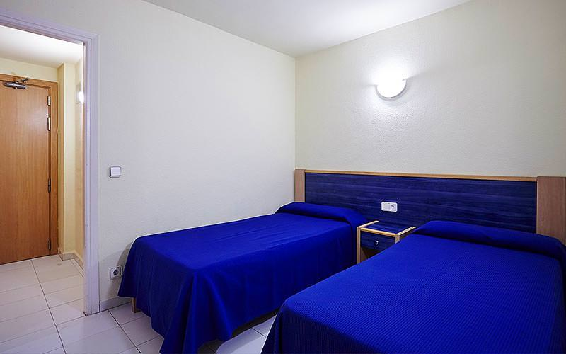 Twin bedroom in a  THB Ibiza Mar Apartment