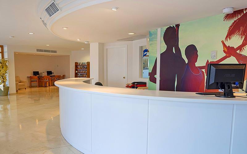 Lobby and reception area at THB Ibiza Mar Apartments