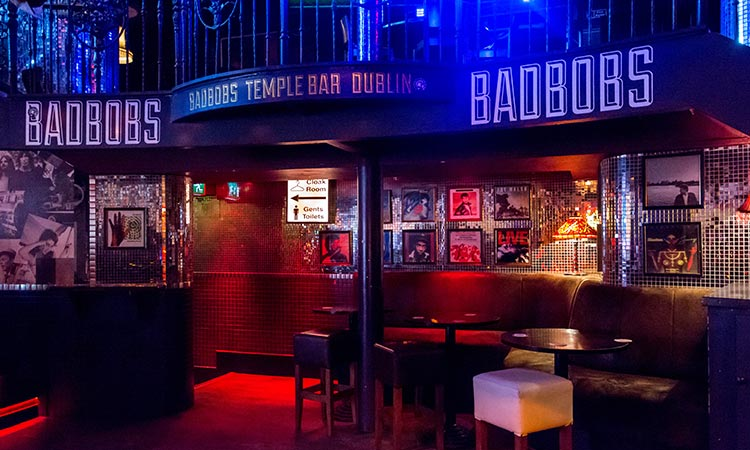 An empty bar at Bad Bobs