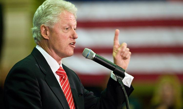 Bill Clinton making a speech