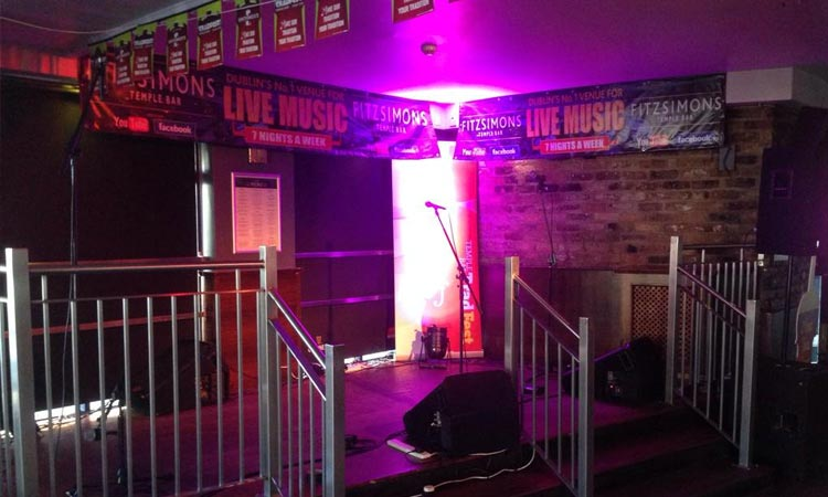 The stage area in Fitzsimons Temple Bar
