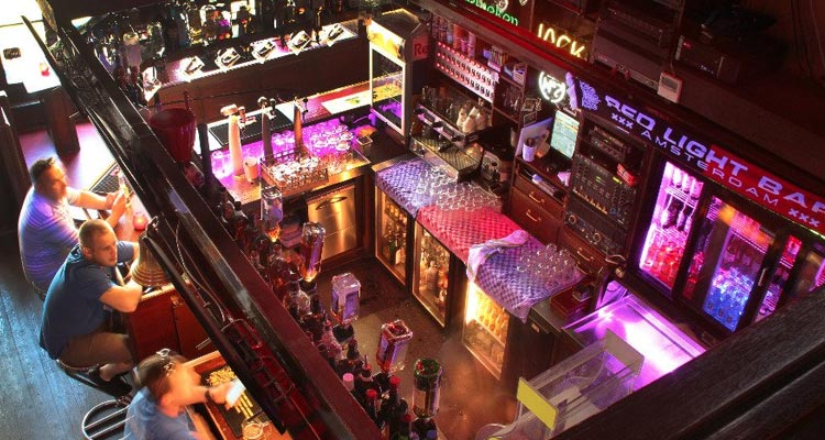 The interior of Red Light Bar