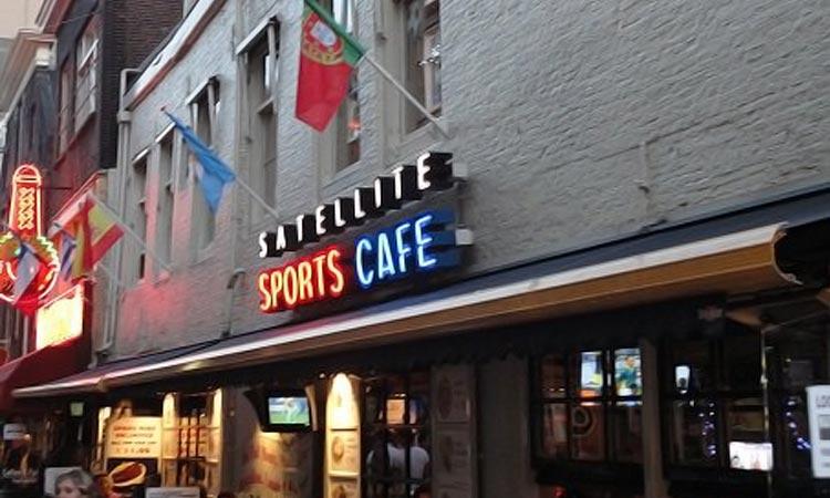 The exterior of Satellite Sportscafe