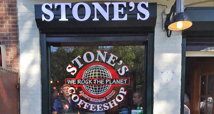 The exterior of stones cafe