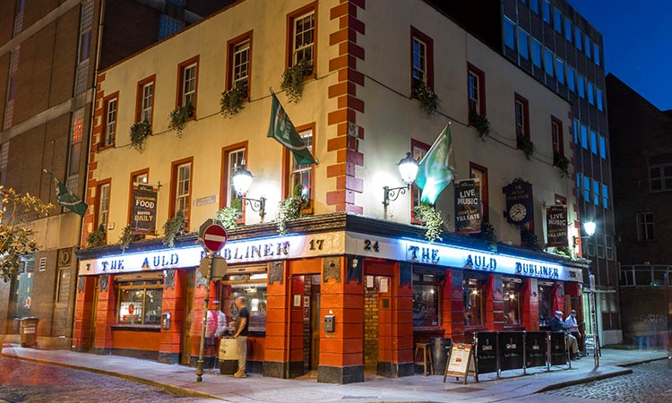 Exterior of The Auld Dubliner