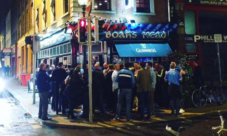 People stood outside The Boars Head