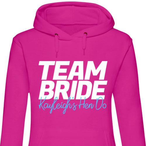 Team Bride Neon Hen Hoodies