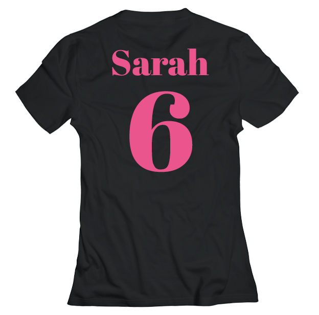 Hen Do Virtual T-shirt – Virtual, Text, Name on Black T-shirt