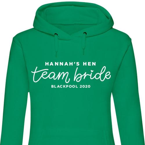 Team Bride Hen Hoodies