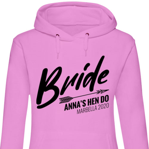 Bride Arrow Hen Hoodies