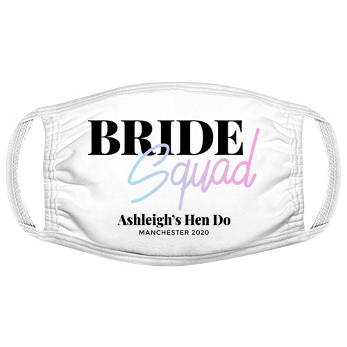Bride Squad Hen Do Facemask