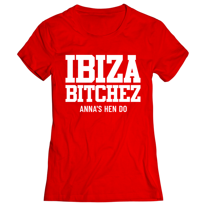 Hen Bitchez Hen Do T-Shirt - front view